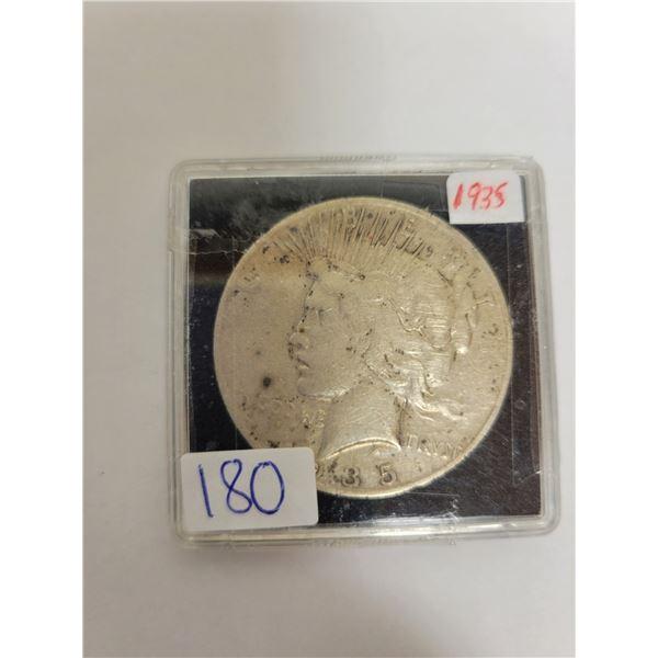 1935 US Peace .29 silver dollar