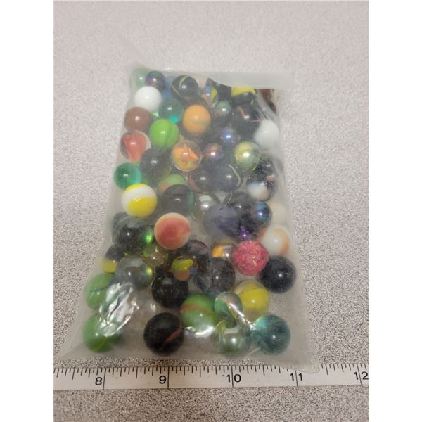 Bag of approx 60 marbles