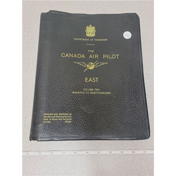 """large booklet """"The Canada Air Pilot-East"""""""