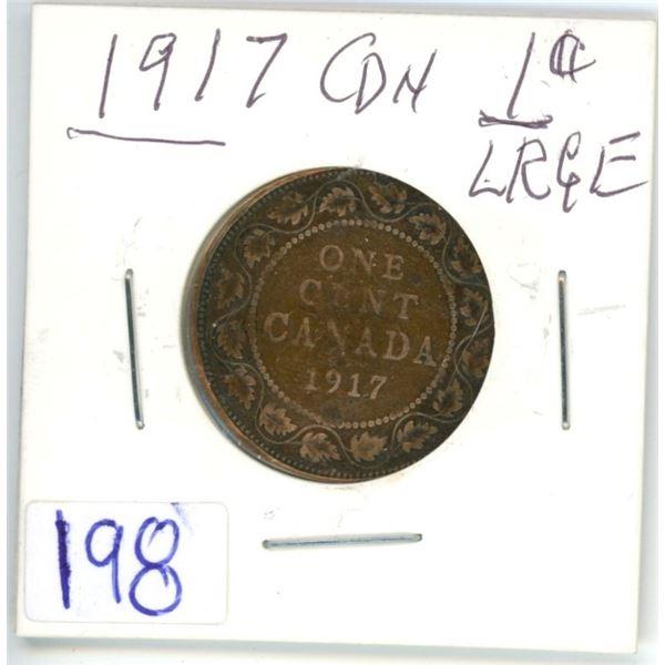 1917 Large Cdn 1¢ coin