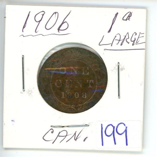 1903 large Cdn 1¢ coin