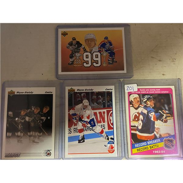 (3) Wayne Gretzky Hockey Cards + Others