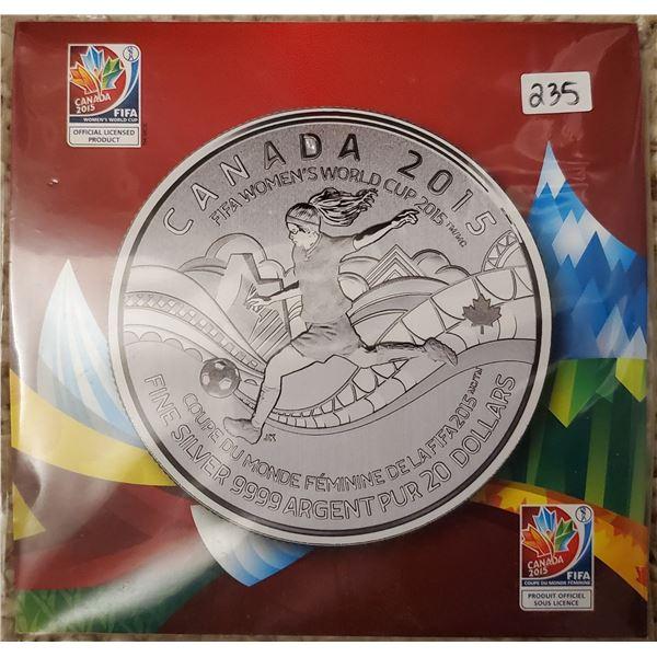 2015 $20 fine silver .9999