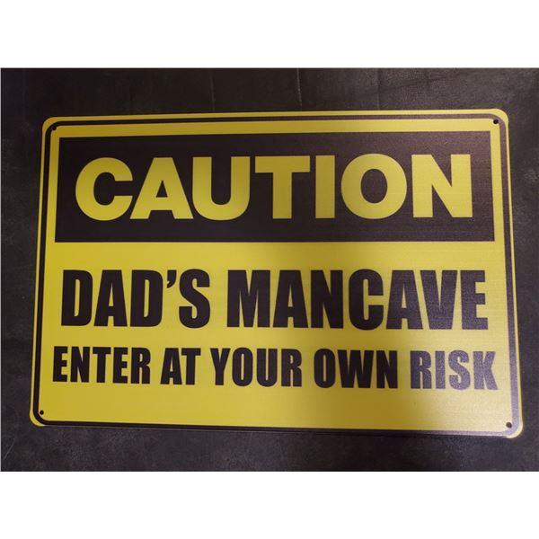 Dad's Mancave Tin Sign