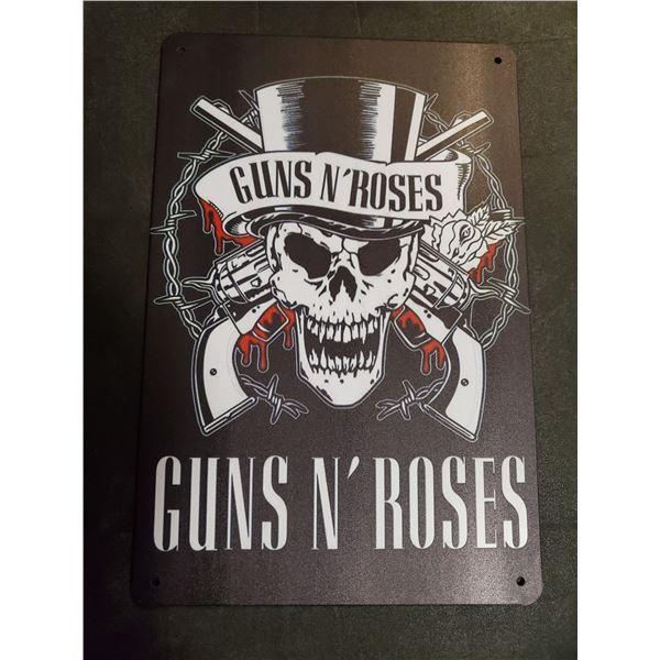 Guns N' Roses tin sign