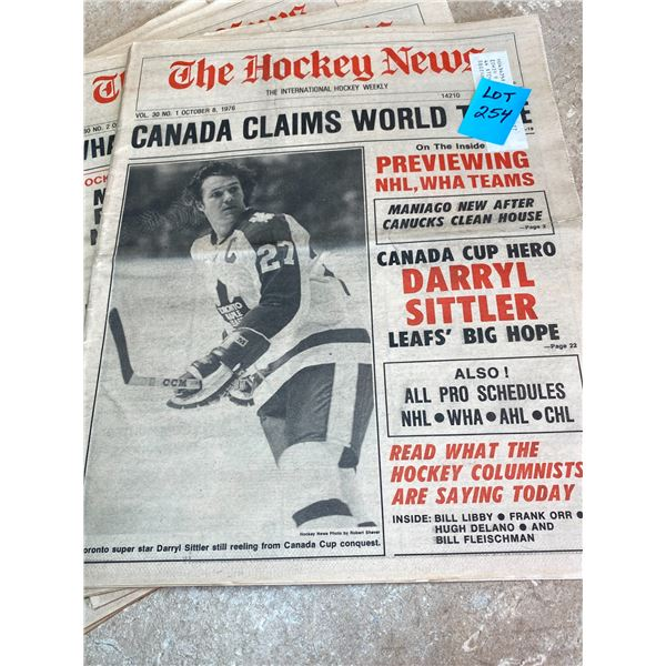77-76 Vol 30 No 1-5  The Hockey News Canada Claims World Title  Bruins Sue But Orr Keeps Playing
