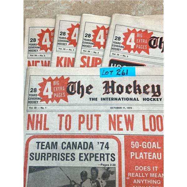 74-75 Vol 28 No 1-5 The Hockey News Team Canada 74 Surprises Experts European Invasion of NHL WHA