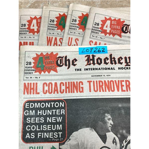 74-75 Vol 28 No 6-10 The Hockey News Big M Nets 544 Goals Ties Rocket Bobby Clark Pursuit NHL Leader