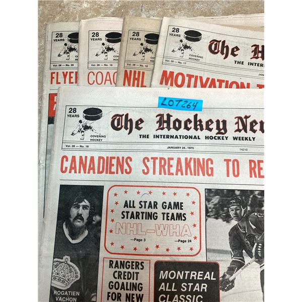 74-75 Vol 28 No 16-20 The Hockey News Stan Mikita Scores 450th Goal Hull Back as Coach of Jets