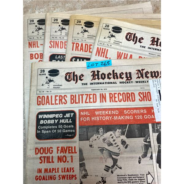74-75 Vol 28 No 21-25 The Hockey News Iron Man Danny Grant Bobby Orr Rush'g to set New Scor'g Record