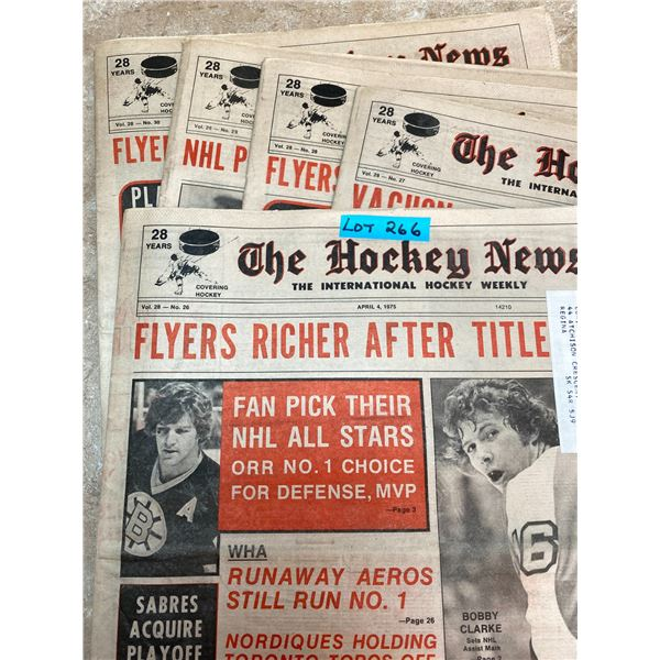 74-75 Vol 28 No 26-30 The Hockey News Bobby Hull WHA Player of Year Guy LaFleur Keeps Momentum