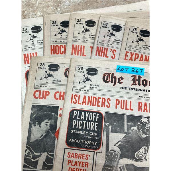 74-75 Vol 28 No 31-37 The Hockey News Flyers Cup Win Orr Clarke Parent Win Bulk of Awards