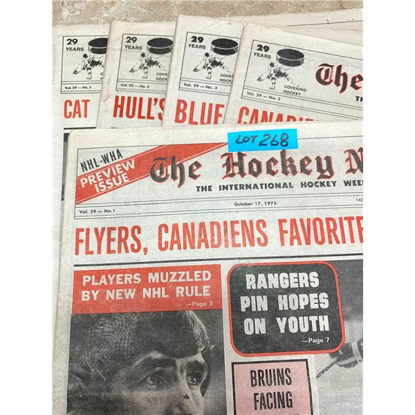 75-76 Vol 29 No 1-5 The Hockey News Hull's Protest Startles Hockey Bucyk Joins Select 500 Scorers