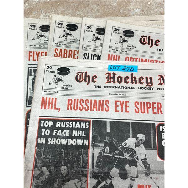 75-76 Vol 29 No 11-15 The Hockey News Slick Russians Win Super Series John Ferguson Rangers Coach GM