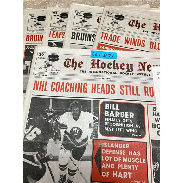 75-76 Vol 29 No 16-20 The Hockey News Leafs Sittler makes Scoring History Hawks want Bobby Orr