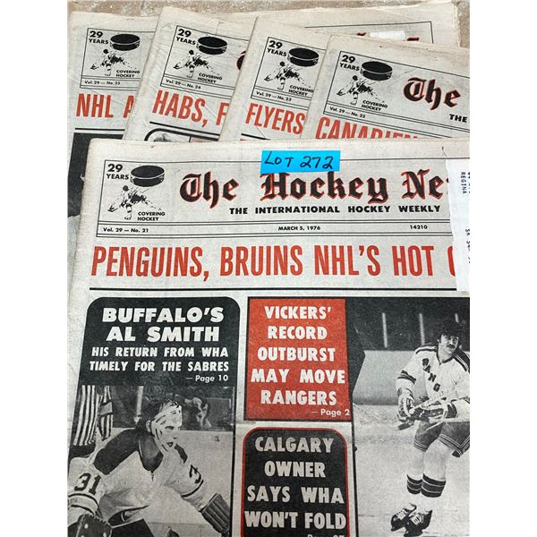 75-76 Vol 29 No 21-25 The Hockey News Barber Clarke Leach Flyers Hot Line, Gary Unger New Iron Man