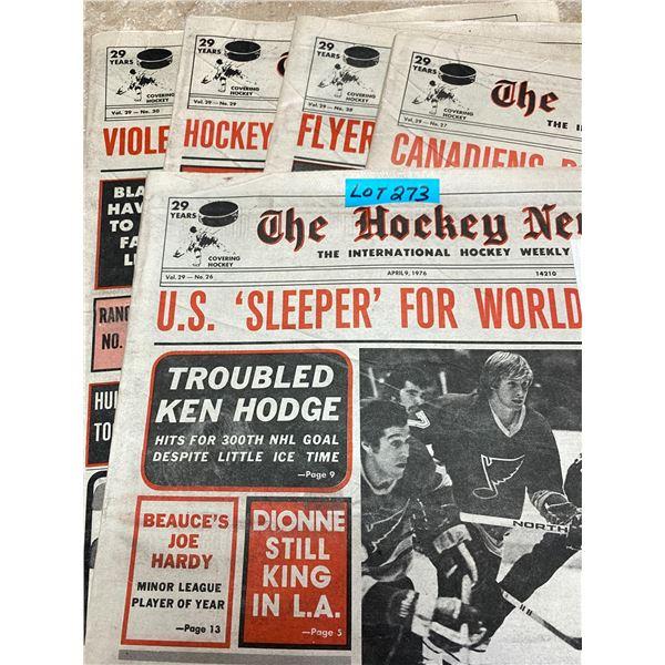 75-76 Vol 29 No 26-30 The Hockey News Canadians Dominate All Stars Lafleur NHL'S Scoring Champ