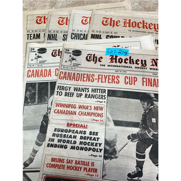 75-76 Vol 29 No 31-33,35-37 The Hockey News Europeans See Russian Defeat Hockey End Monopoly