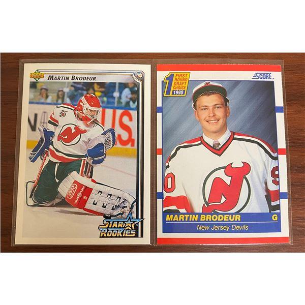 Martin Brodeur 1990's Score Rookie  + 1992-93 Star Rookie Card