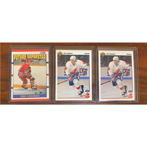 Eric Lindros 1990 Score Rookie + 1991-92 (ENG + FR)