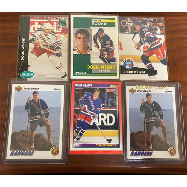 6 Different Doug Weight Rookie Cards