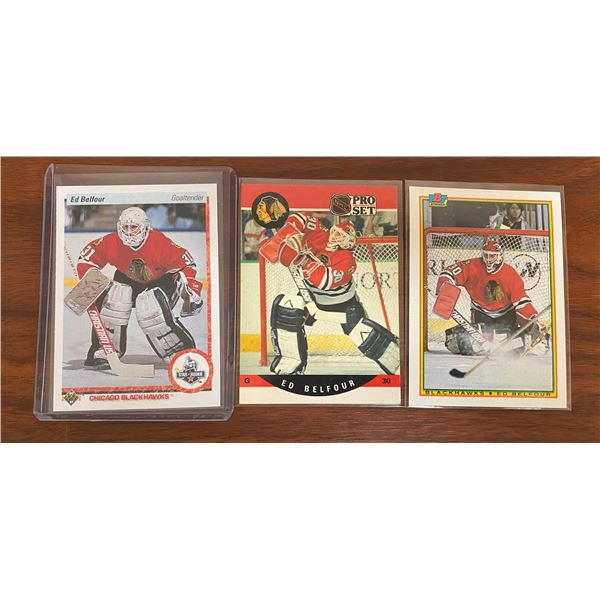 3 Different Ed Belfour Rookie Cards