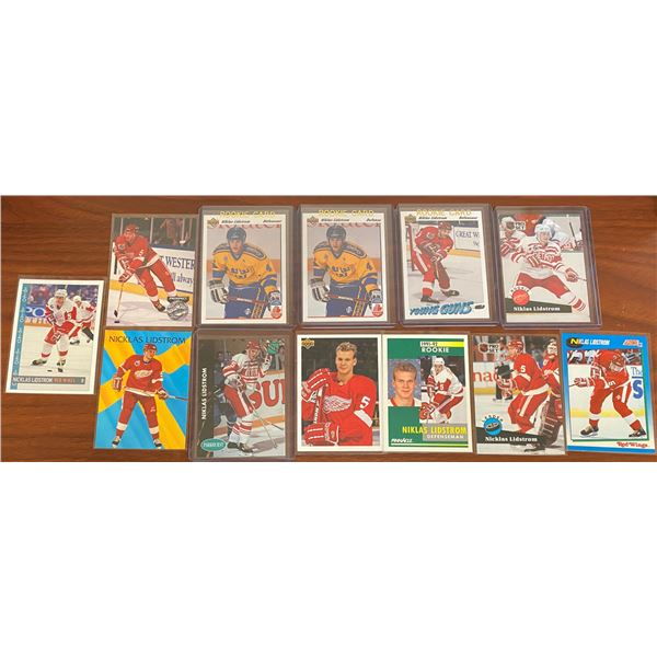 5 Different Nikalas Lidstrom Rookie Cards + 7 Others