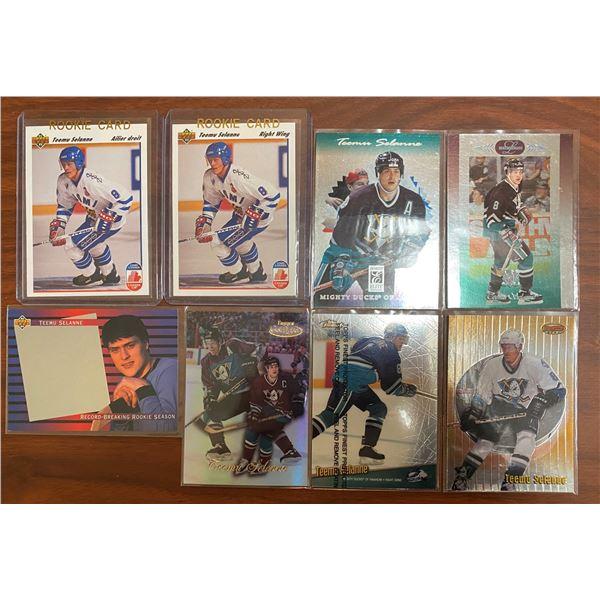 1991-92 Teemu Selanne Rookie Cards (ENG + FR)