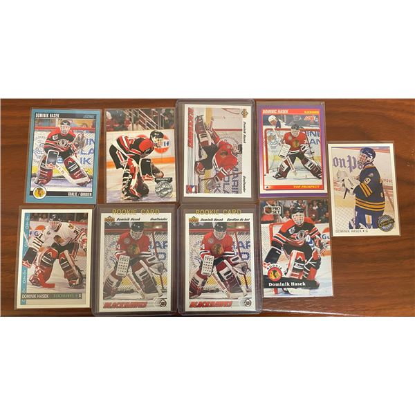 5 Different Hasek 1991-92 Rookie Cards + Others