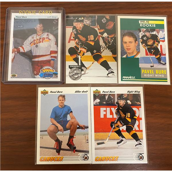 1990-91 Pavel Bure Rookie + 4 Other Cards