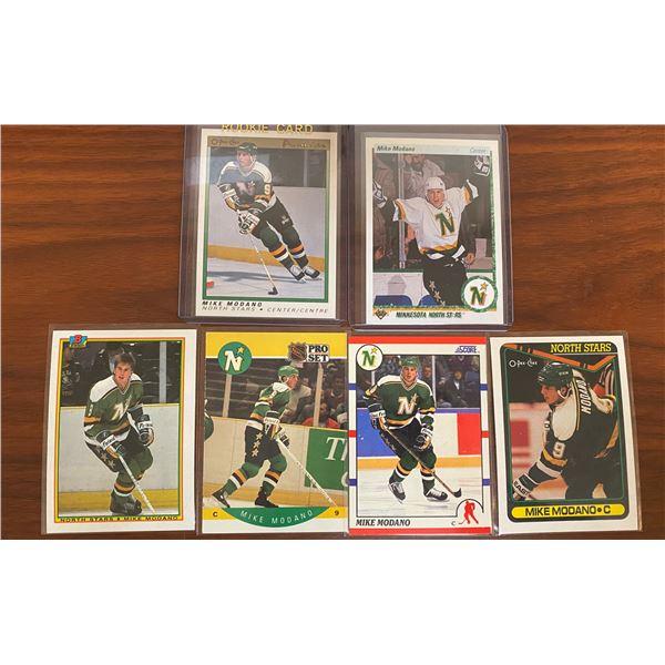 6 Different 1990-91 Modano Rookie Cards
