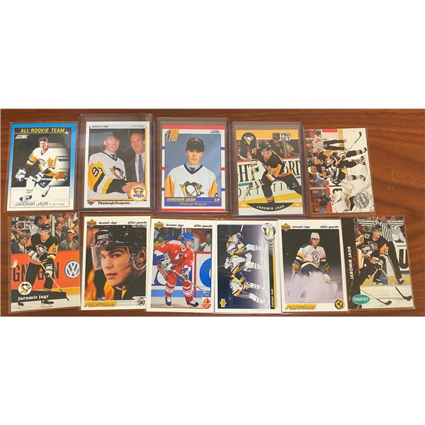 3 Different 1990-91 Jagr Rookies + 8 others