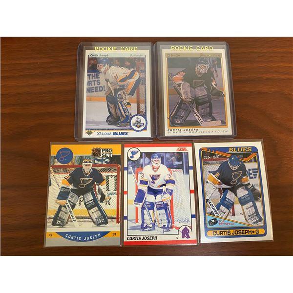 5 Different 1990-91 Curtis Joseph Rookie Cards
