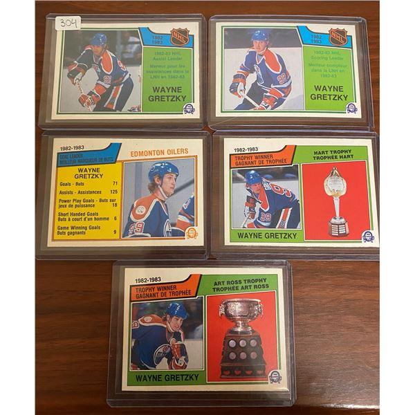 5 1983-84 Gretzky Cards