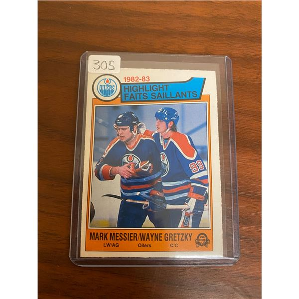 1983-84 OPC Messier/Gretzky Cards