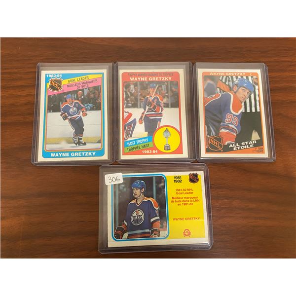 4 1980's OPC Gretzky Cards
