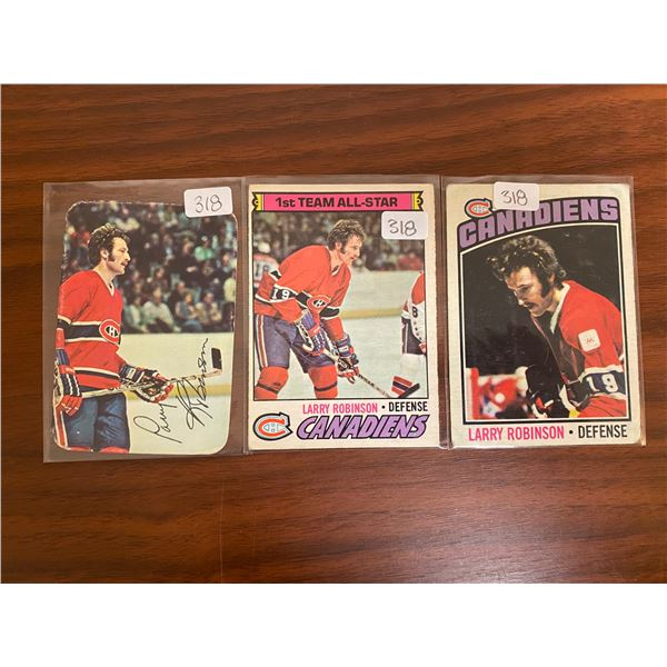 (3) 1970's OPC Larry Robinson Cards