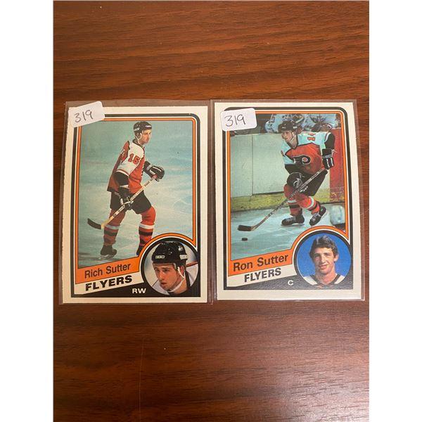 1984-85 OPC Ron + Rich Sutter Rookies