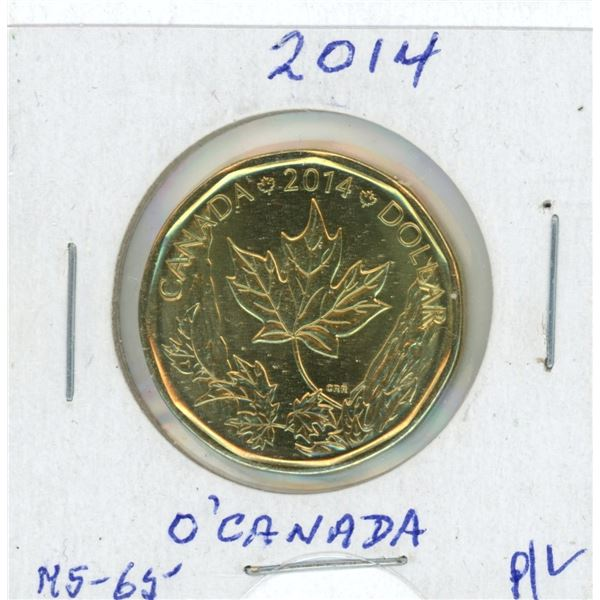 2014 Loon Dollar - O' Canada Maple Leaf From Holiday Gift Set