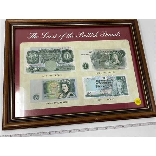 """Wood Framed """"The Last Of The British Pounds"""" (13""""x16.5"""")"""