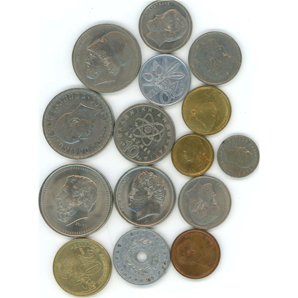 15 World Coins From Greece - Refer To Pictures