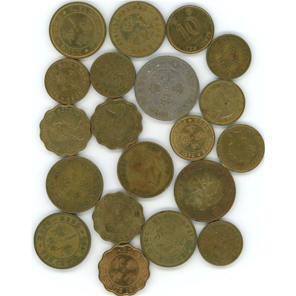20 World Coins From Hong Kong - Refer To Pictures