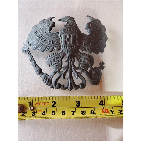 German Prussian metal helmet badge (large) WOW!!