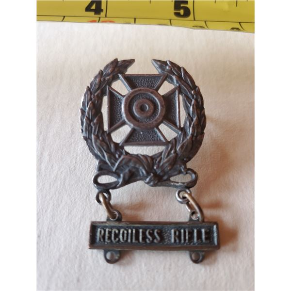German recoiless rifle medal with iron cross