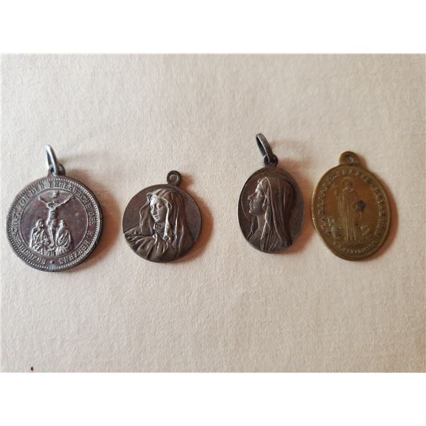 4 vintage religious related medals