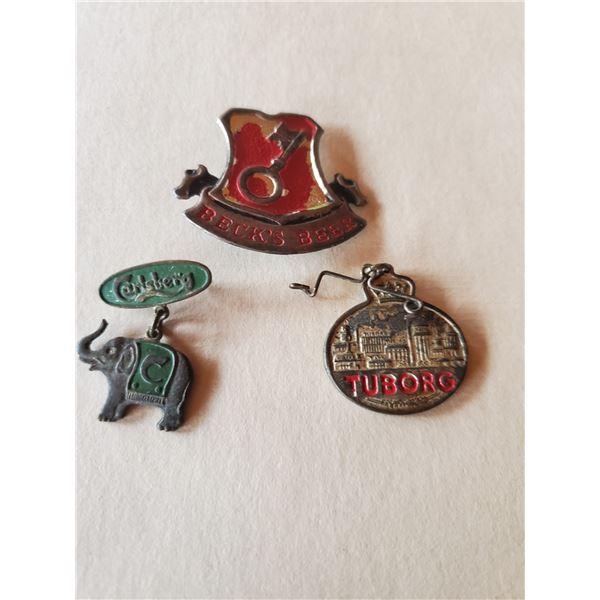 3 vintage Bavarian brewery related medals