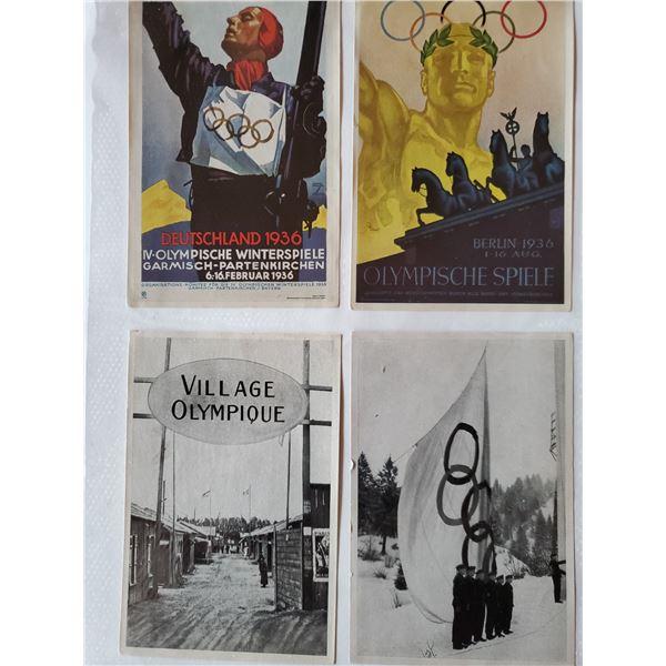 10 1936 Germany olympics trading cards - originals