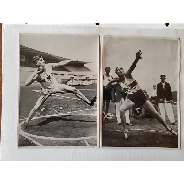 10 1936 original Germany Berlin olympic trading cards - track & field
