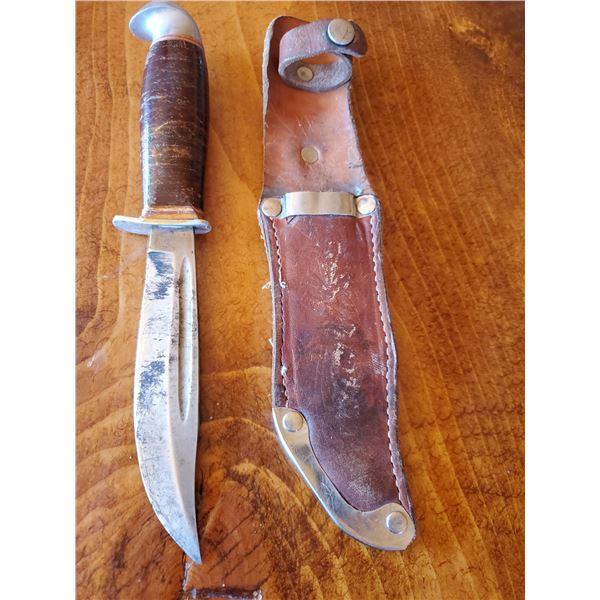 """Vintage hunting knife 4.5"""" blade - unmarked"""