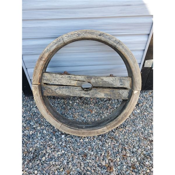 """30"""" wooden pulley wheel - repurpose project???"""